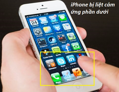 iPhone của bạn bị liệt cảm ứng một phần